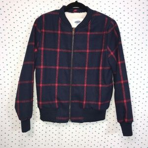 NWT Old Navy Blue & Red Windowpane Jacket